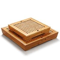 Hot sale large small storage tea tray tea table Bamboo Tea tray drawer style drainage tea tray decoration Free Shipping