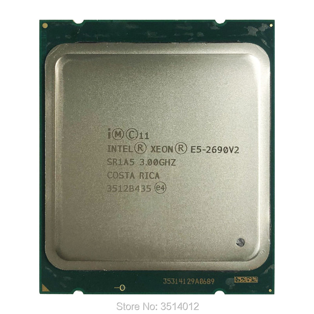 Intel Xeon E5 2690v2 E5 2690v2  E5 2690 v2 3.0 GHz Ten Core Twenty Thread CPU Processor 25M 130W LGA 2011