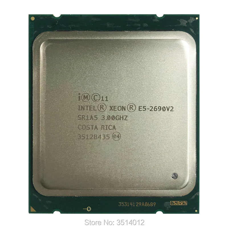 Intel Xeon E5-2690v2 E5 2690v2  E5 2690 v2 3.0 GHz Ten-Core Twenty-Thread CPU Processor 25M 130W LGA 2011