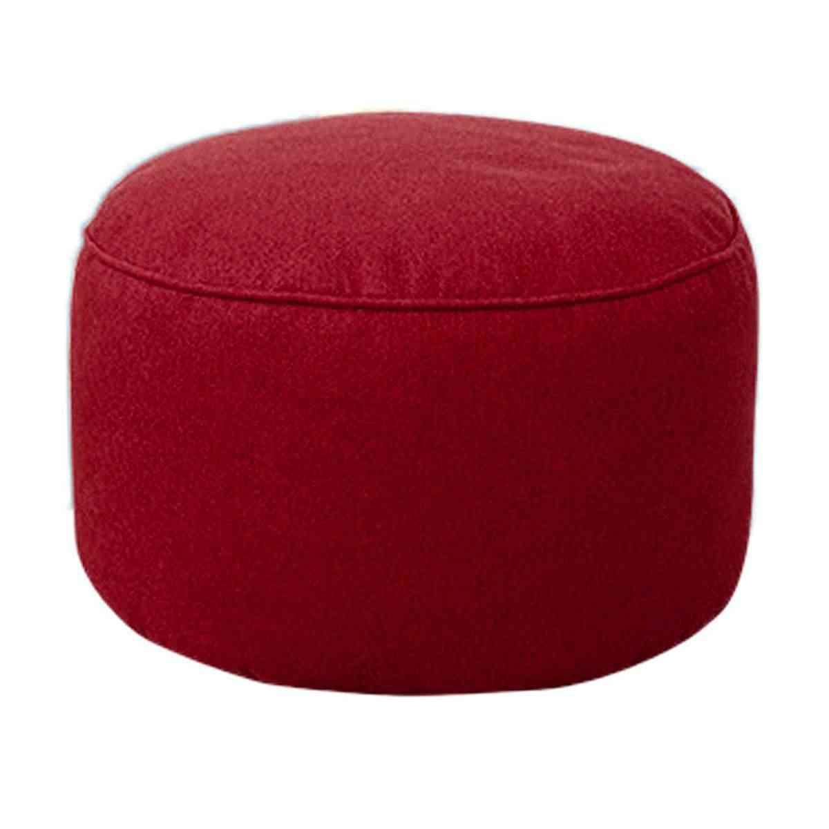 Algodão Tampa início sofá Escabelo rodada Sacos de Feijão Espreguiçadeira Sofá fezes Capa Lavável Sem Enchimento Macio para a mesa da sala de estar