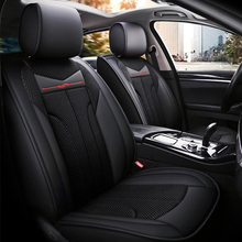 New PU Leather Auto Car Seat Covers 5D car-styling Full Surrounded Front+Rear Cushion 5-Seats Black