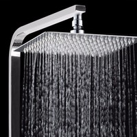1Pcs 12 Inch Bathroom Square Stainless Steel Top Spray Faucet Head Chrome Finish Pressurized Rotatable Rainfall Shower Head