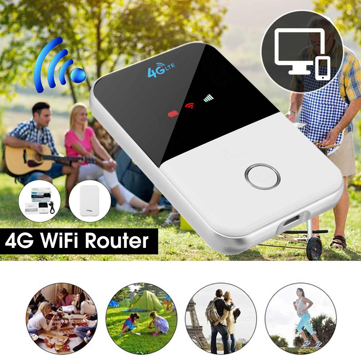 MF825 4G LTE mi-fi Router Portable 150Mbps Modem Hotspot Car WiFi