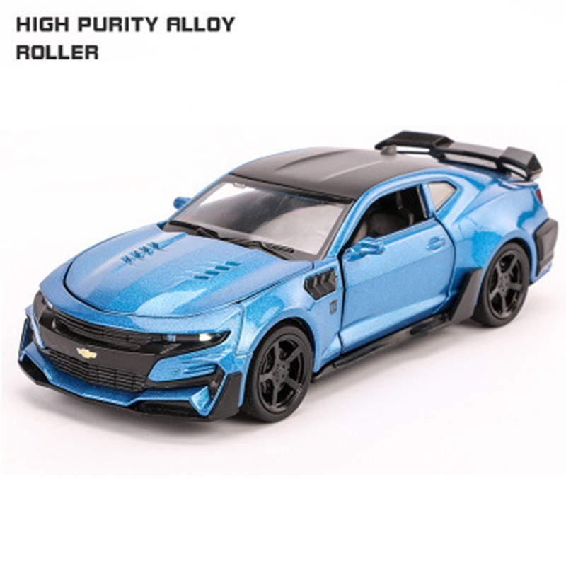 Chevrolet Camaro 1 32 Alloy Diecast Car Model Sound Light Pull Back For Children Birthday Gifts