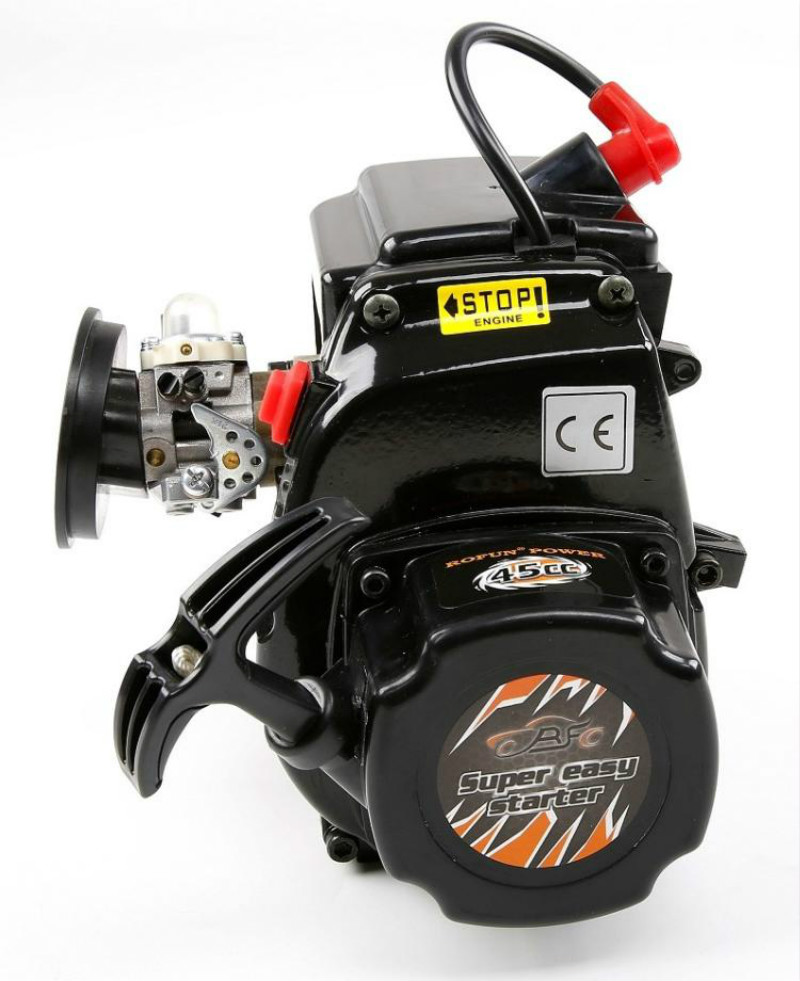 45CC 4 boulons moteur avec Walbro 1107 Carb NGK bougie d'allumage pour 1/5 Losi 5ive-t KM X2 Rovan LT HPI Rofan Baja 5B 5 T pièces de moteur Rc