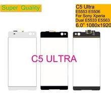 10Pcs/lot For Sony Xperia C5 Ultra E5553 E5506 Touch Screen Digitizer Front Glass Panel Sensor Lens C5 Ultra DUAL E5533 E5563 цена