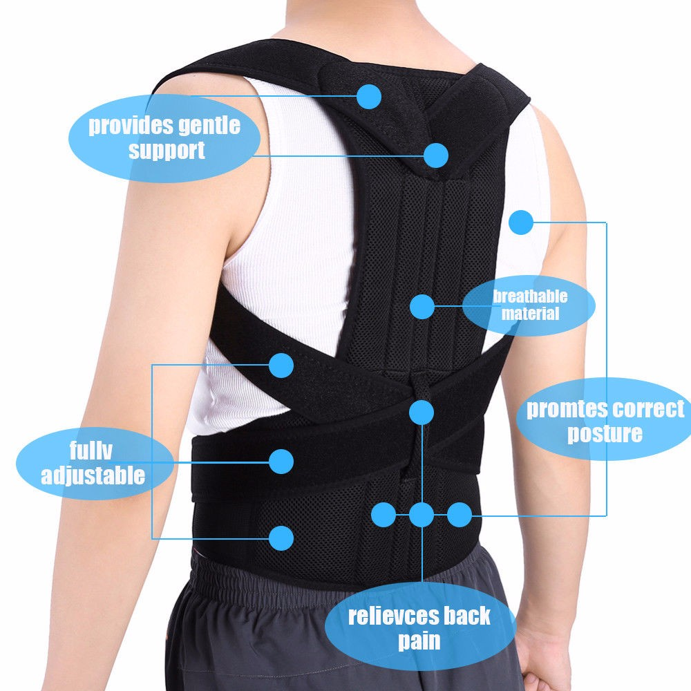 Belt Straightener Posture-Corrector Shoulder-Wrap Back-Brace Support-Back XXXL Adjustable