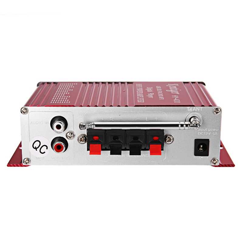 Kentiger Hy-400のhi-fiステレオアンプラジオMp3 fm lcdディスプレイ電源プレーヤーオートオートバイリモートcontr