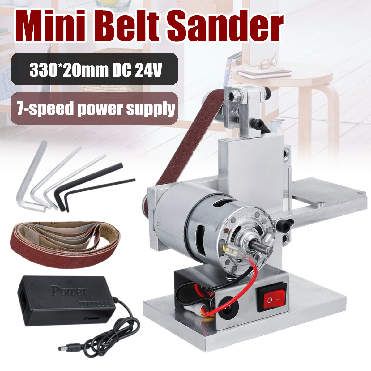 Diy Mini Belt Sander Machine Sanding Grinding Sharpening