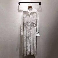 Повседневное белое летнее платье узоры для женщин 2019 Платье с принтом платье с цветочным рисунком для женщин высокое качество платье для же