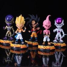 15cm Dragon Ball Z Son Goku Vegeta Trunks Anime Action Figures Collectible Brinquedos Model Doll Kids Toys For Boys