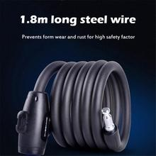 1.8m Anti Theft Bike Lock Bicycle Accessories Steel Wire Security Bicycle Cable Lock MTB Road Motorcycle Bike Equipment