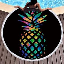 2019 Pineapple Towel Beach Round Flamingo Tassel Microfiber Towels Summer Sunbath Polyester Bath Serviette De Plage
