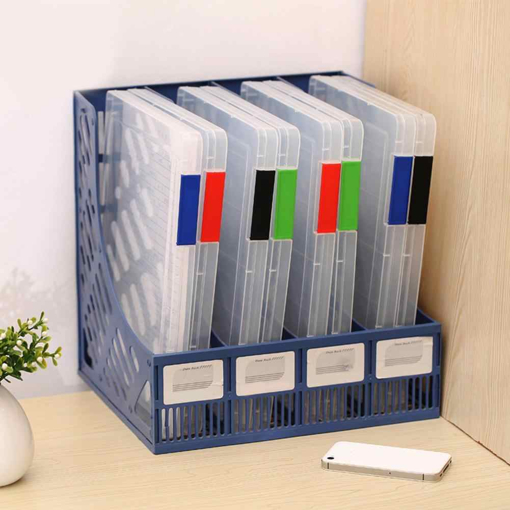 New Transparent Storage Box Clear Plastic Document Paper Filling Case A4 File Box School Supplies