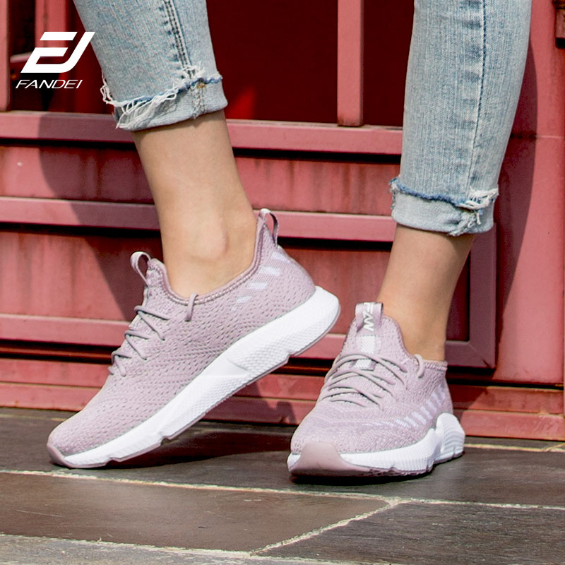 Running Shoes For Women Sport Shoes Woman Flyknit Sneakers Women Breathable Outdoor Walking Jogging Shoes Non-Slip Zapatillas