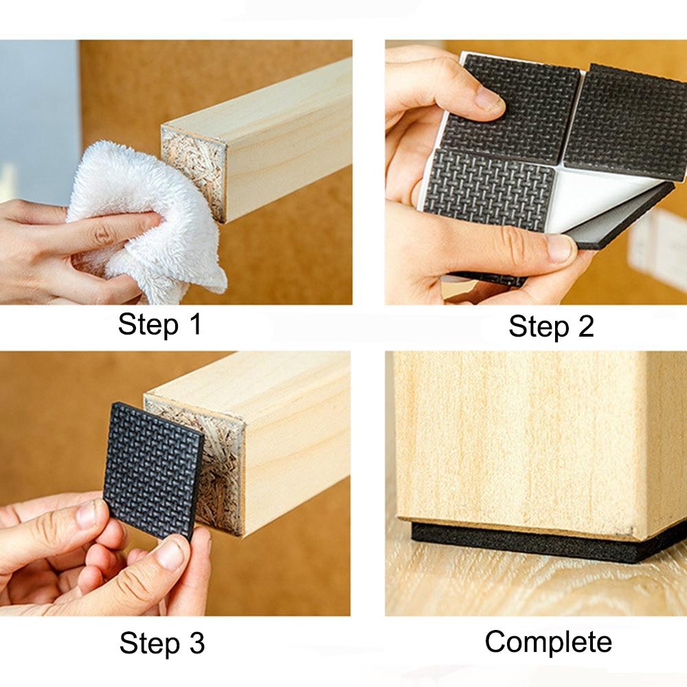 Клейкие резиновые противоскользящие, устойчивые к царапинам, сделай сам, для мебели, ног, пола, протекторы, подставки для стола, табуреты, защитные коврики для стульев