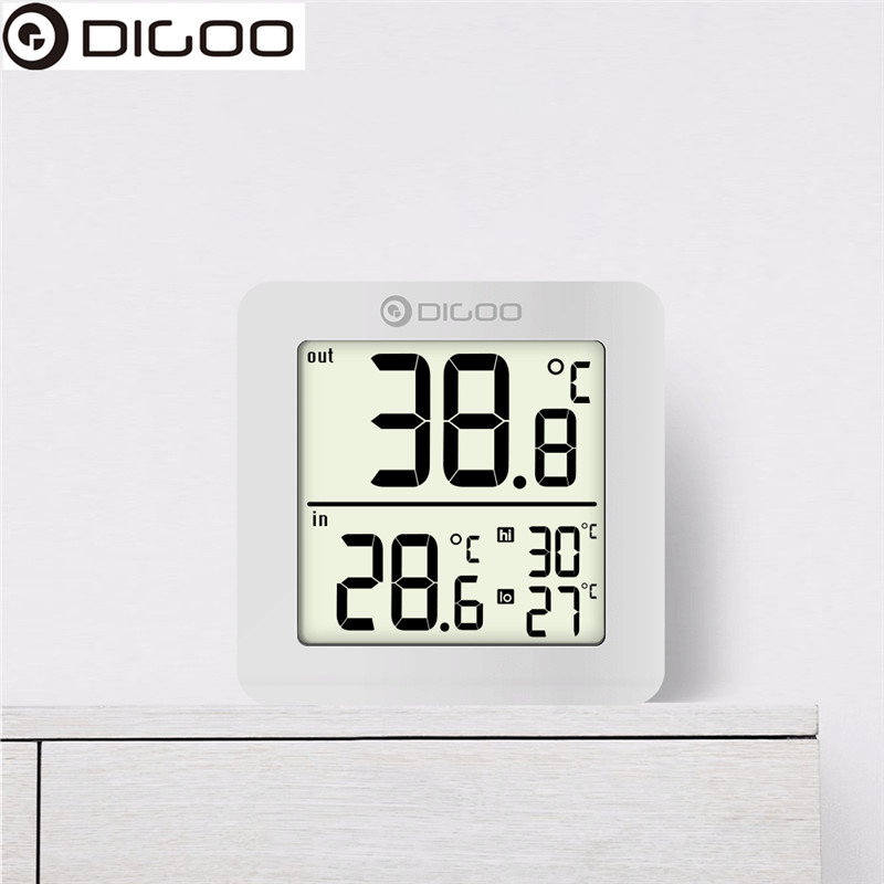 DIGOO DG-TH01 Mini LCD Digital Thermometer Multifunction Indoor Outdoor Probe Temperature Sensor Mon