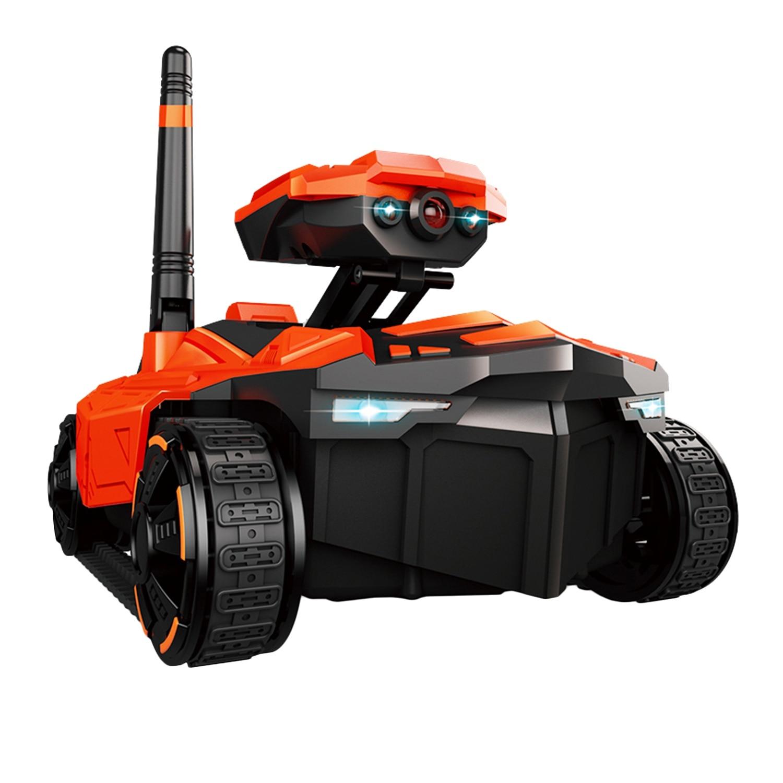 Attop Rc tanque con cámara Hd Wifi Fpv 0.3Mp Cámara App Control remoto tanque Rc juguete Robot controlado por teléfono
