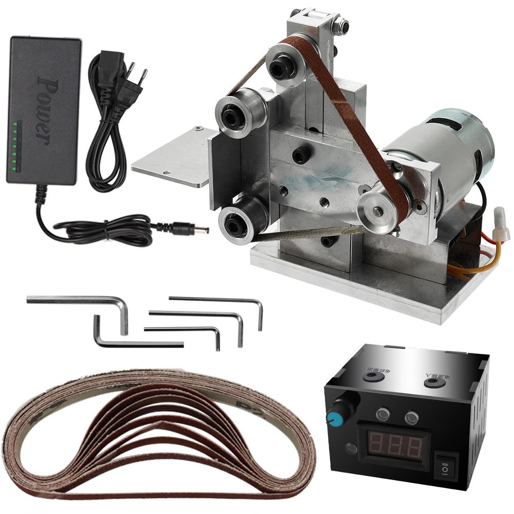 Multifunctional Grinder Mini Electric Belt Sander DIY Polishing Grinding Machine Cutter Edges Sharpener-in Grinders from Tools    2