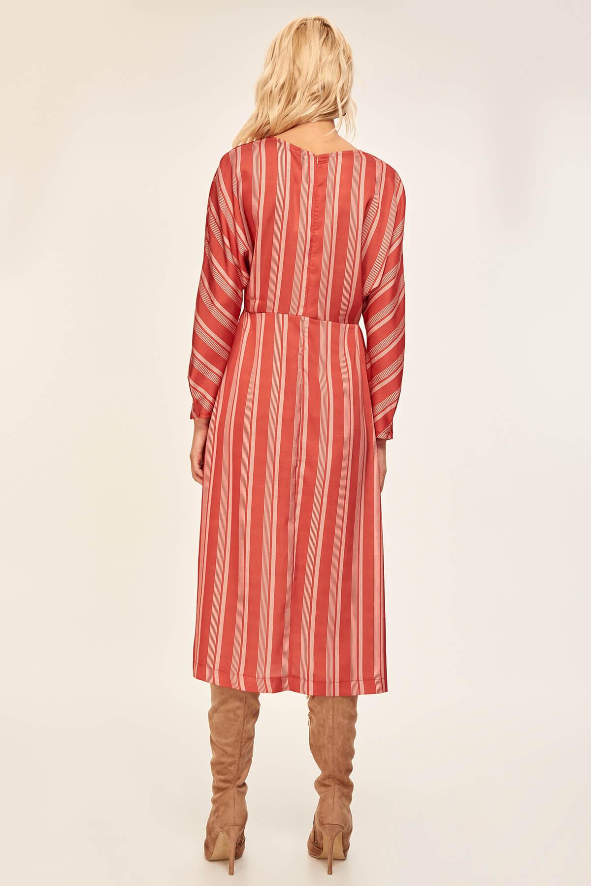 Trendyol Tile Striped Dress TOFAW19LE0042 4