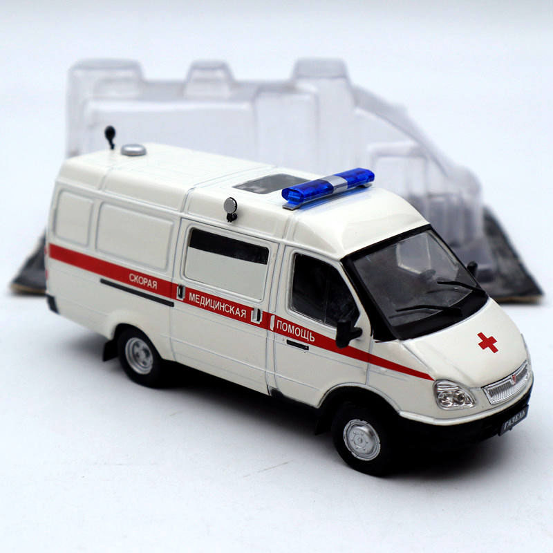 DeAgostini 1:43 Russia Gazelle Ambulance Service Vehicle #11 GAZ-32214 Diecast Models Toys Car