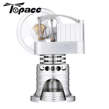 Full Metal Vertical Type Stirling Engine Model Gift Collection Children Science Learning Physics Educational Building Kits full metal assembled single cylinder gasoline engine model building kits for researching industry learning studying toy gift