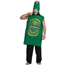 купить Funny Adult Beer Costume Men Beer Battle Cosplay Suit Halloween Costume For Adult Carnival Party Clothing по цене 1537.1 рублей