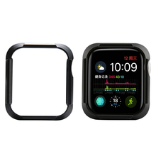 SOONHUA High Quality Ultra Thin Carbon Fiber Lines PC Case Protective Frame For Apple Watch Series 4 iWatch Case 40MM 44MM