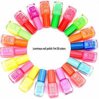Verniz de esmalte esmaltes permanentes de uv y nagellak 20 cores fluorescente neon gel luminoso para o brilho no verniz escuro do esmalte do prego
