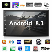 Android 8.1 Car Stereo GPS Navigation Radio Player Double Din WIFI 7inch audio Player Car MP5 Player
