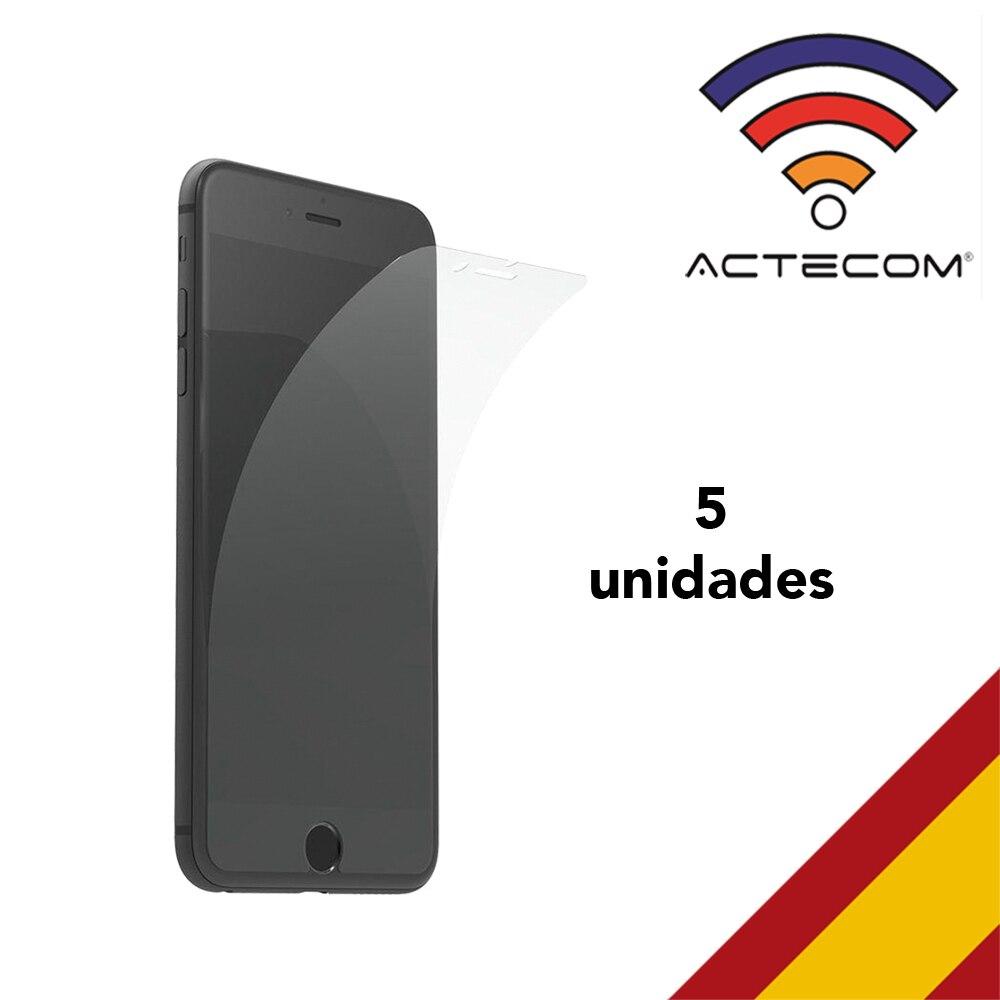 ACTECOM 5X Laminas Protector Pantalla Flexible Para IPhone 8 4,7