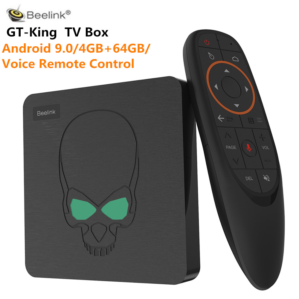 Beelink GT-King Android 9.0 TV Box Amlogic S922X 4GB LPDDR4 64GB ROM Voice Remote Control 2.4G + 5.8G WiFi 1000Mbps 4K 60fpsBeelink GT-King Android 9.0 TV Box Amlogic S922X 4GB LPDDR4 64GB ROM Voice Remote Control 2.4G + 5.8G WiFi 1000Mbps 4K 60fps