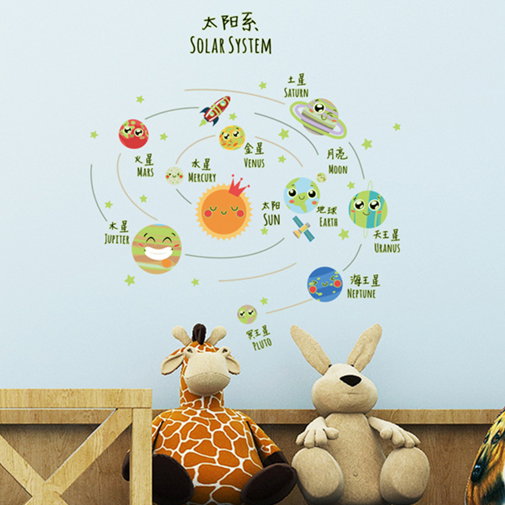 Us 2 69 48 Off Animals Wall Stickers For Kids Rooms Safari Nursery Baby Home Decor Poster Monkey Elephant Horse Decals In