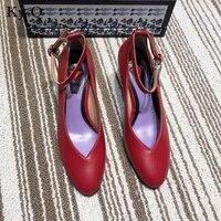 Новые Классические брендовые элегантные однотонные женские туфли лодочки с круглым носком, пикантные туфли со стразами и пряжкой, женские