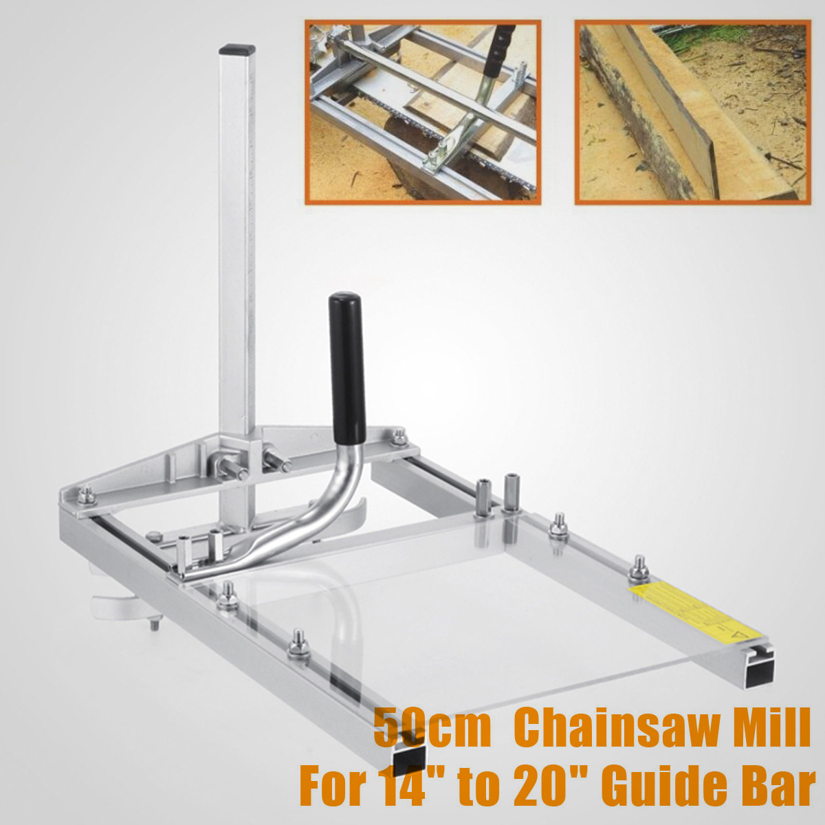 Doersupp NEW Chainsaw Guide Bar Portable Chainsaw Mill Planking Milling From 14 to 24 Guide Bar