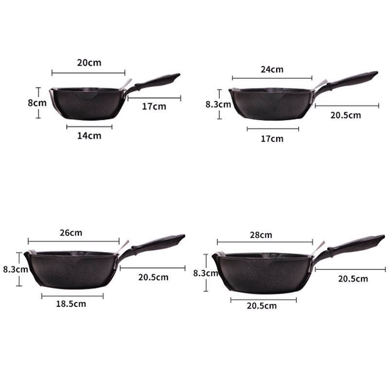 Medical Stone Thickened Bottom Non-Stick Frying Pan 1