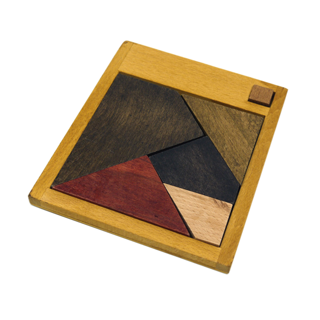Three Types Tangram 6-Piece Wooden Puzzle Game Magic Brain Teaser Intelligence Game for Adult Playing Braining Training Kits