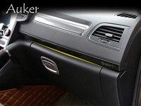 Car Center Control Edge Trim Interior Accessories Car Styling 3Pcs/Set For Renault Koleos 2017 2018