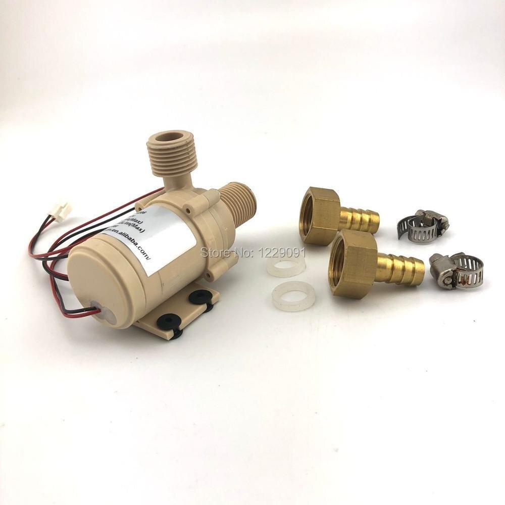 12v 24v DC Solar Water Pump Hot 3M Head Circulation Pompe Brushless Motor high pressure pump DropShip with power adaptor