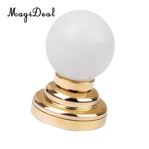 Image 3 - 3 adet/paket 1:12 bebek evi minyatür LED masa lambası tavan lamba pili işletilen plastik ışık yatak odası dekoru aksesuarları oyuncak