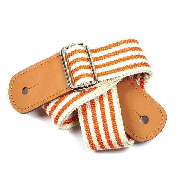 Adjustable Orange Striped Ukulele Strap