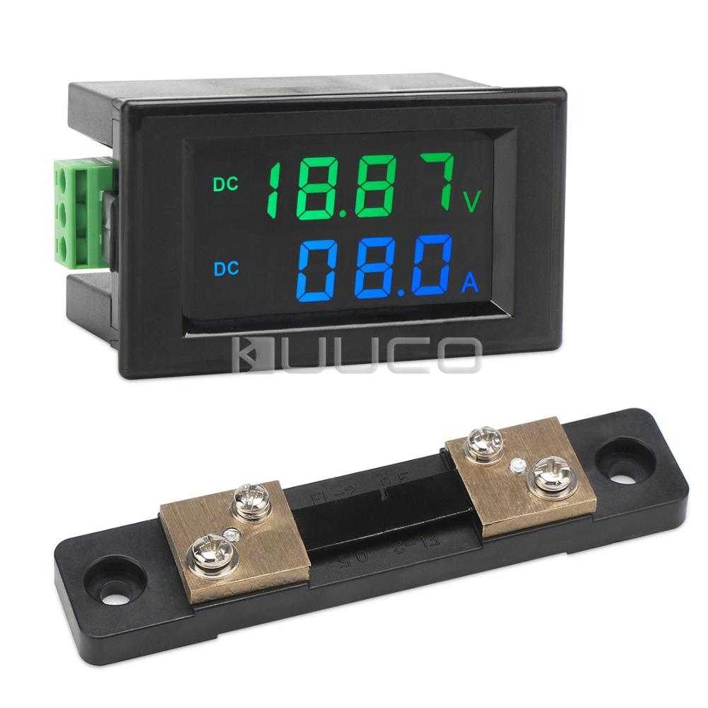 Measurement & Analysis Instruments 50a Shunt Clients First Digital Meter Dc 0~199.9v/0~50a Lcd Display Voltage Current Meter Dc 12v 24v Voltmeter Ammeter Instrument Parts & Accessories