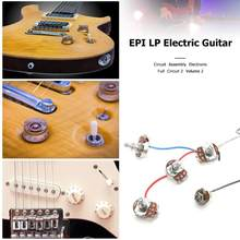 1 Set LP Elektrische Gitaar Pickup Kabelboom Voor EPI SG LP Dot voor Vervanging LP Elektrische Gitaar (1 toggle Switch + 4 Potten)(China)