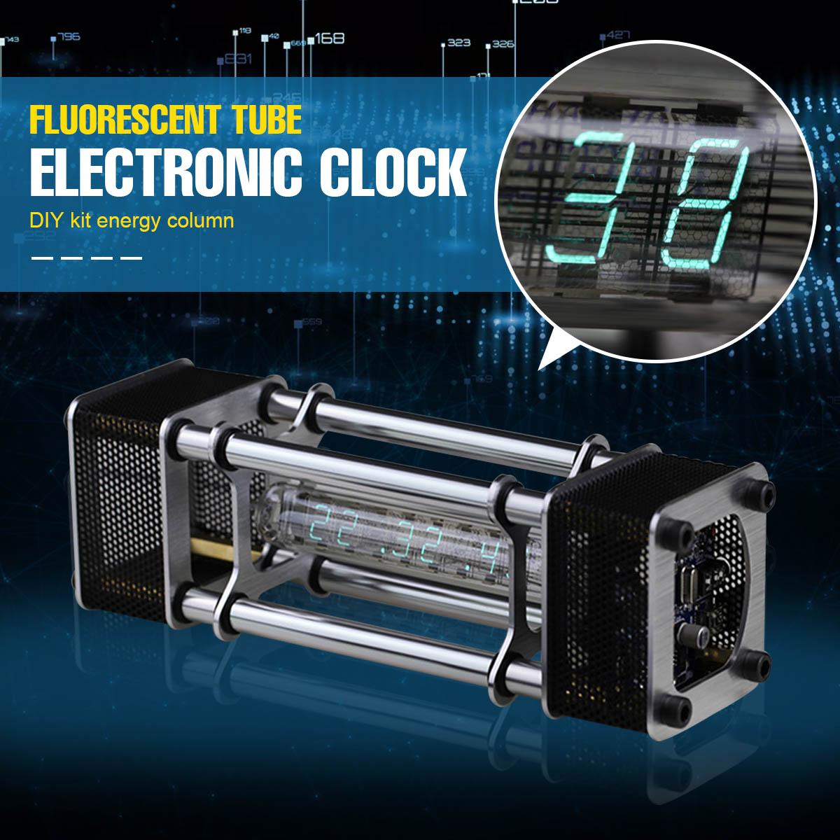 Desmontado IV-18 6 Display Digital de Energia Fluorescente do Tubo Relógio Eletrônico Kit DIY Pilar Com Módulo de Controle Remoto
