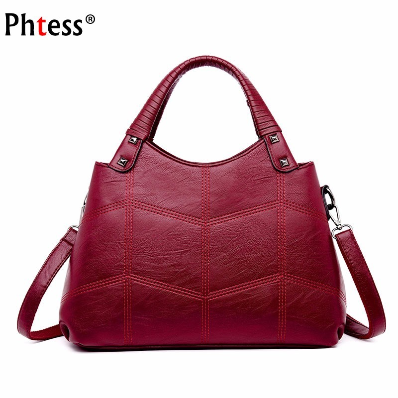 Female Shoulder Bag Vintage Ladies Hand Bags Women Leather Handbags High Quality 2018 Bolsa Femininas Casual Tote Bags For Girls