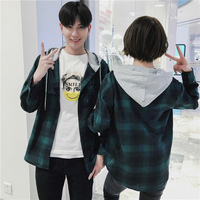 camisa 2019 Spring Fashion Best Thick Clothes New Product Japan Style Lattice Even Hat Lovers Shirt streetwear Free shipping
