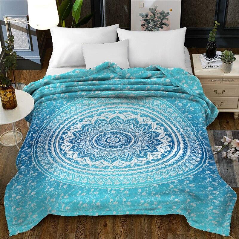 Peluche microfibre doux jeter couverture noël père noël léger confortable couverture de lit chaud couverture polaire pour toutes les saisons - 3