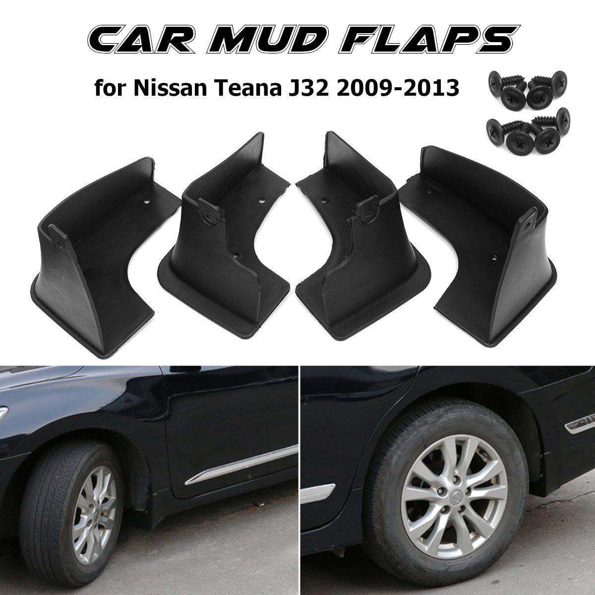 Car Mud Flap For Nissan Maxima(AU) Teana J32 2008 2009 2010 2011 2012 2013 Fender Mud Flap Splash Guards Mudguards image