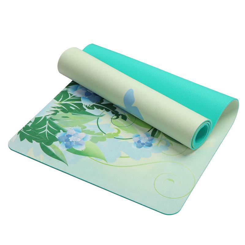 5 MM Yoga Mat Lotus Pattern Suede TPE Pad Anti skid Body Sports Fitness Gymnastics Mat Amulet Towel Pilates Yoga Equipment