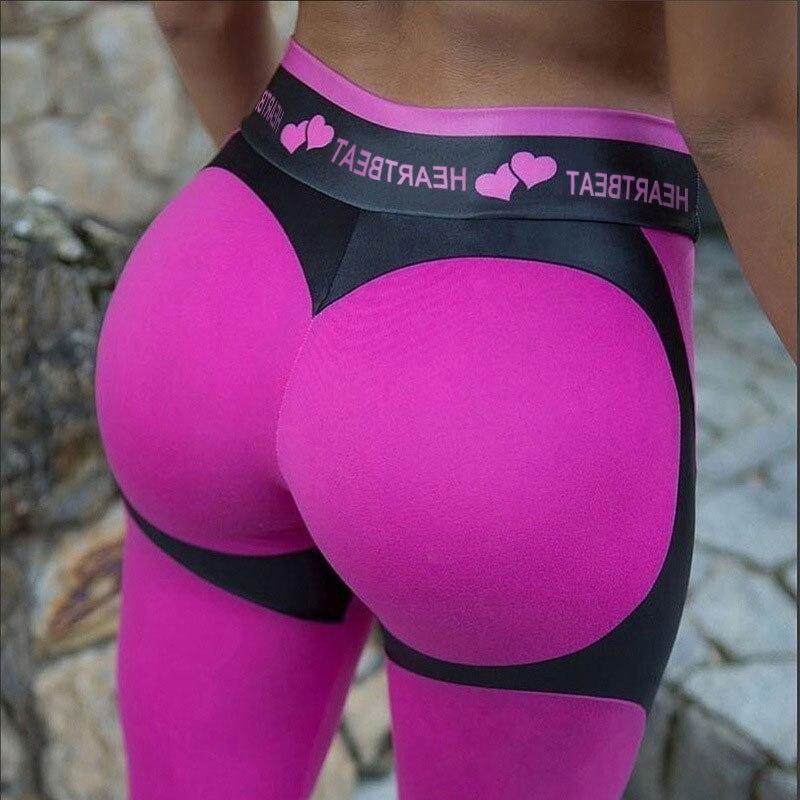 SVOKOR Women Printing Push Up Leggings  Heart Sexy Ankle-Length Femal Pants Elasticity Casual High Waist Fitness Legging